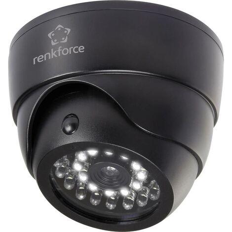 Caméra factice Renkforce 1325938 avec détecteur de mouvements, avec spot IR 1 pc(s)