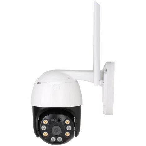 Camera Ip, Camera Dome Rotative Ptz, Moniteur De Camera Wifi Etanche Exterieur, Vision Nocturne Infrarouge Et Audio A Deux Canaux (Sans Adaptateur)
