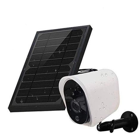 Caméra IP de sécurité alimentée par batterie rechargeable solaire sans fil GUUDGO 1080p