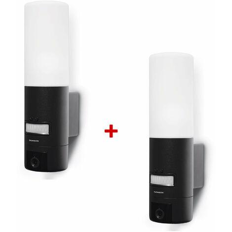 Caméra Ip Extérieure 720p - Eclairage et détecteur de mouvements - Thomson - Lot de 2