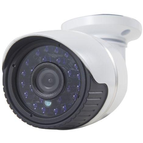 Caméra IP H.264 filaire imperméable à l'eau / anti-vandale, 1/3 pouces 4 mm 1,3 méga pixel fixe, masque de détection de mouvemen