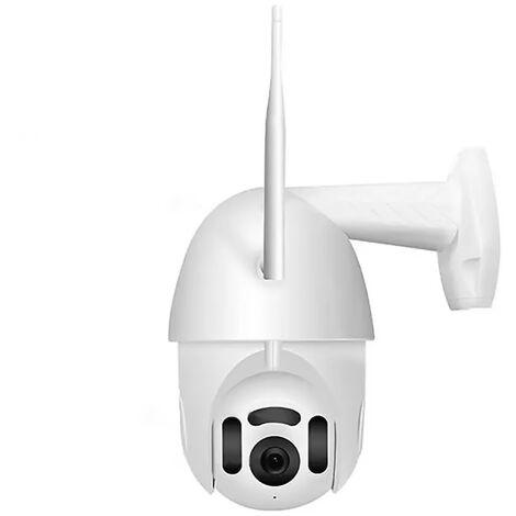 Camera Ip Ptz Panorama Mvr3120S-B7 1080P Hd Accueil Camera De Securite Humaine Detection Wi-Fi Camera Etanche Exterieure Antipoussiere, Blanc