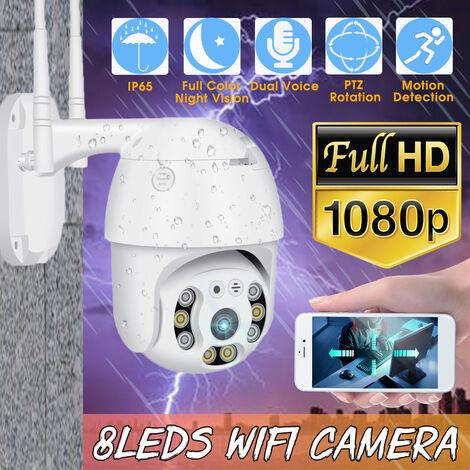 Caméra IP WIFI 1080P sans fil extérieure HD PTZ IR sécurité à domicile intelligente étanche (prise 1080P UE)