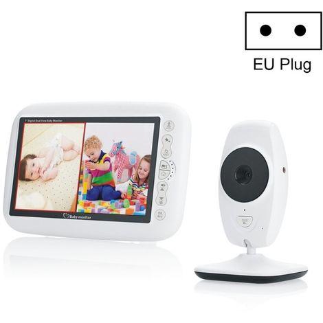 Caméra IP WiFi 7 pouces plus grand écran d'affichage surveillance numérique sans fil bébé moniteur de carrière SP870