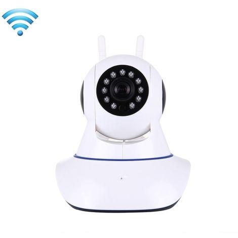 Caméra IP WiFi Smart Home Security IP d'alarme HD 360 degrés Rotation PTZ détection de mouvement de vision nocturne à distance A