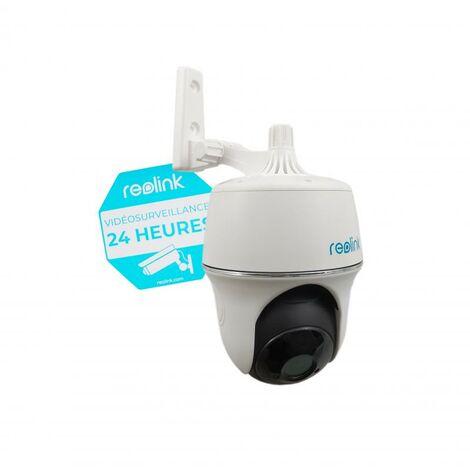 Caméra motorisée 100% sans-fil autonome IP / WIFI - Plage horaire / IP65 / 1080P FHD / APP (Reolink Argus PT)