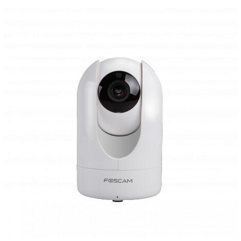 Caméra motorisée HD 4Mp infrarouge 8m Foscam R4 avec carte SD 64Go - Blanc
