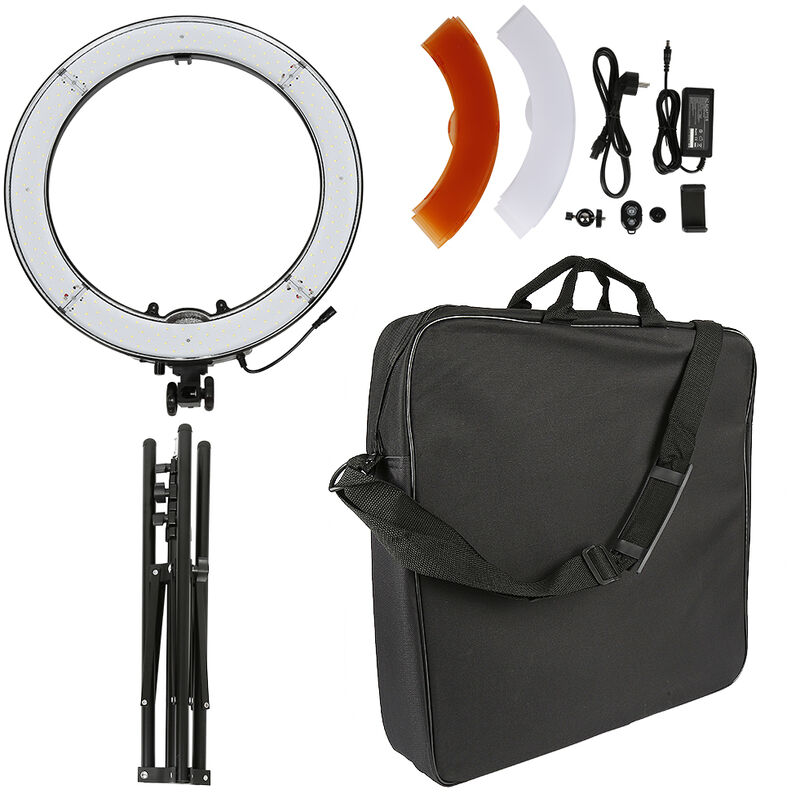 Caméra Photo Vidéo Eclairage Kit: 48 Centimètres Extérieur 55W 5500K Réglable LED Lumière Anneau