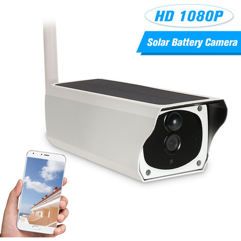 Camera reseau etanche haute definition sans fil solaire WIFI 1080P Prise en charge de la surveillance a distance de l'application Android / iOS Modele: T201