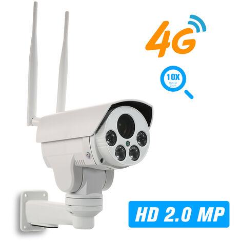 Camera reseau PTZ sans fil 3G / 4G 1080P HD 2 millions de pixels Objectif autofocus exterieur etanche 5-50 mm avec fente pour carte TF et fente pour carte SIM Modele: NST-IPH5812-A10-4G Norme europeenne
