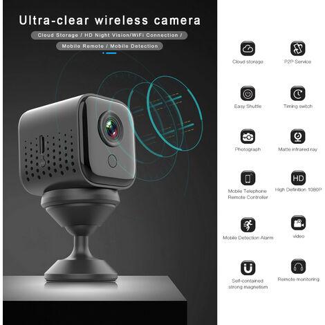 "main image of ""Camera sans fil ultra-claire 2MP 1080P Mini stockage en nuage WiFi DV/Vision nocturne HD/Connexion WiFi Detection mobile Compatible avec Smartphone Android, modele:Noir"""