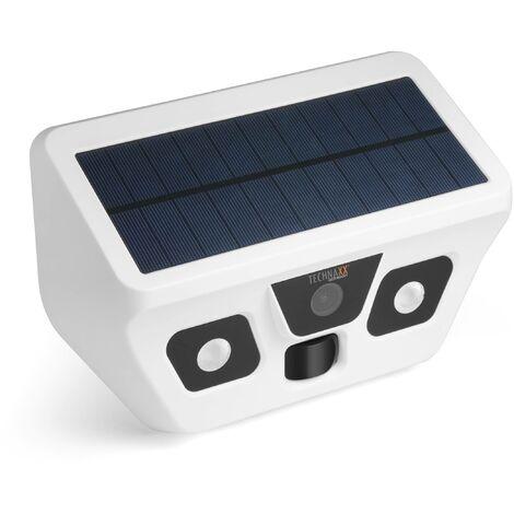 Caméra solaire d'extérieur FullHD avec éclairage LEDTechnaxx