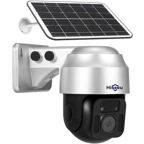 Camera Solaire Sans Fil Wifi 2Mp 1080P Hd, Prise En Charge De La Vision Nocturne/Detection De Mouvement/Surveillance A Distance/Voix Bidirectionnelle, Ip66 Etanche