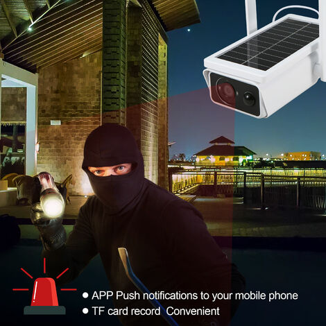 Camera Solaire Wifi 1080P Pir Mouvement Ir Night Vision Support Nuage Two Way Audio Ir Night Vision Ip66