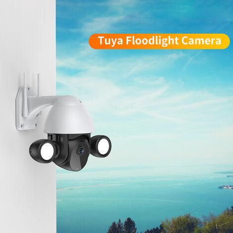 Camera Wifi, Camera Reseau Exterieure Hd 3Mp, Avec Ptz, Camera De Securite Ptz Automatique Etanche Ip66, 2 Modes De Vision Nocturne, Noir