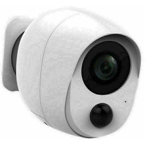 Caméra WiFi sans Fil sur Batterie Rechargeable, 1080P HD Caméra de Sécurité Intérieure/Extérieure, Détection de Mouvement, IP66 Imperméable, Stockage Micro SD