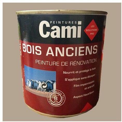 CAMI Peinture Glycéro BOIS ANCIENS Grège 0,5 L - Grège