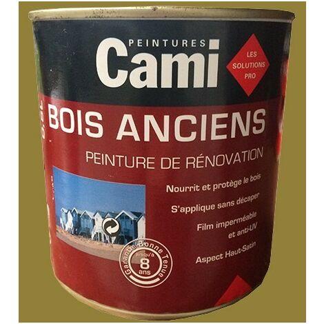 CAMI Peinture Glycéro BOIS ANCIENS Vert kaki 0,5 L - Vert kaki