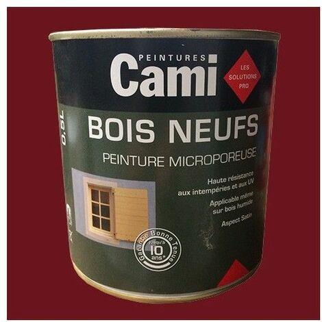 CAMI Peinture Glycéro BOIS NEUFS Rouge Basque 0,5 L - Rouge Basque