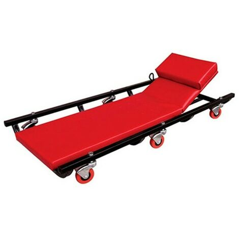 Camilla para mecánicos acolchada y reclinable