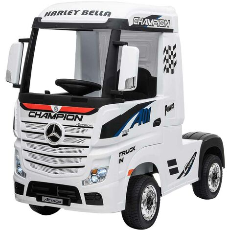 Cami�n El�ctrico Mercedes Actros Blanco para ni�os