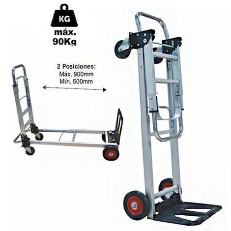 camion plate-forme Brico   charge maximale de 90 kg. roues 150 mm impinchables   Transport de marchandises panier