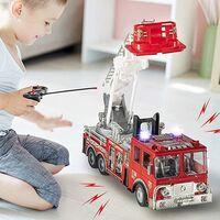 Camion Pompieri Radiocomandato Giocattolo Bambini Luci Suoni e Scala Estensibile