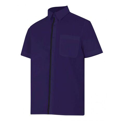 Camisa azul marino de manga corta Serie P531