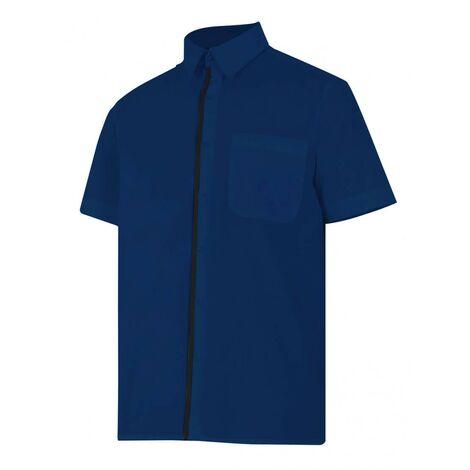 Camisa azulina de manga corta Serie P531