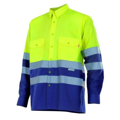 Camisa bicolor manga larga alta visibilidad
