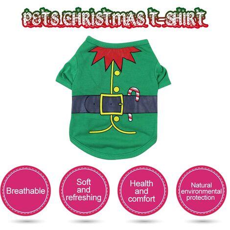 Camisa de perro, camiseta de Navidad para perros, XS