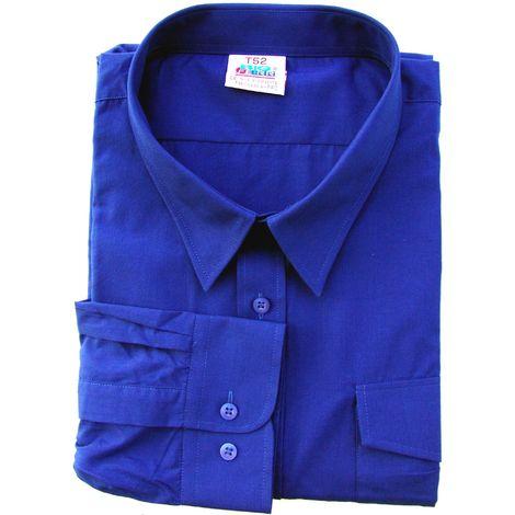 Camisa Trabajo T48/49 Tergal Manga Larga 2 Bolsillos Azul Bigferr
