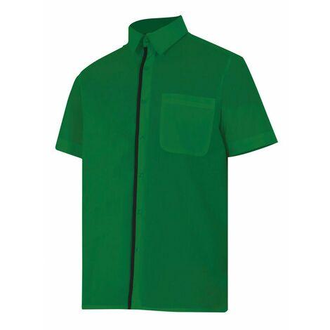 d22450fb4ff Camisa verde de manga corta Serie P531