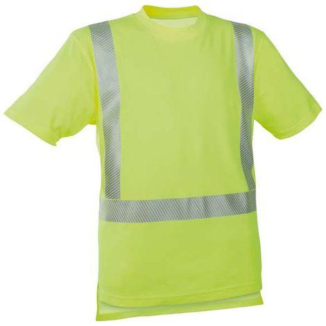 Camiseta alta visibilidad amarillo ,Talla S
