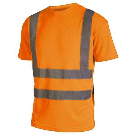 Camiseta alta visibilidad - Manga corta - Naranja fluorescente - S - Orange