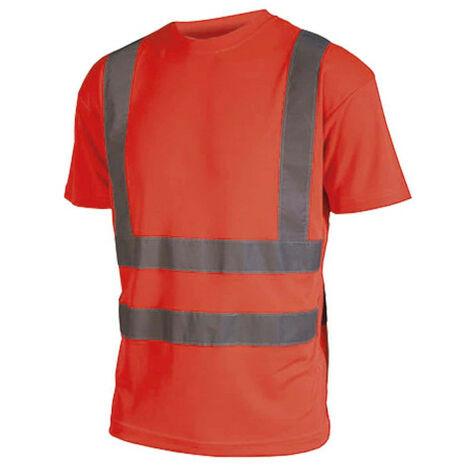 Camiseta alta visibilidad - Manga corta - Rojo fluorescente - 4XL - Rouge