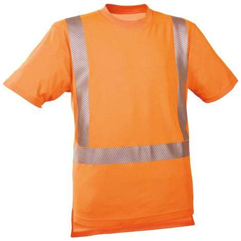 Camiseta alta visibilidad naranja vivo ,Talla XL