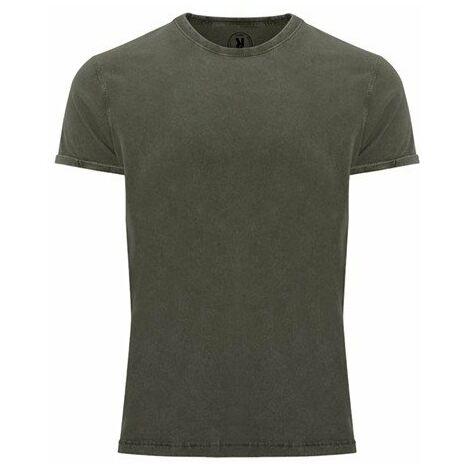 Camiseta de manga corta efecto jeans CA66890186