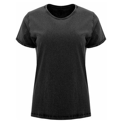 Camiseta de manga corta efecto jeans para mujer CA66910186