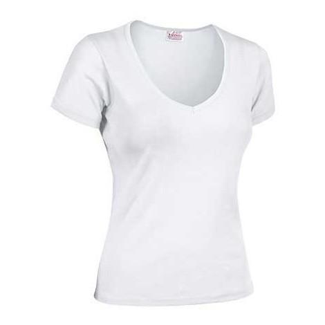 3eb3746c5 Camiseta de mujer de manga corta y cuello de pico ribeteado - Roxy ...