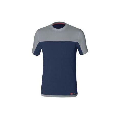Camiseta de trabajo Stretch Azul/Gris Talla S