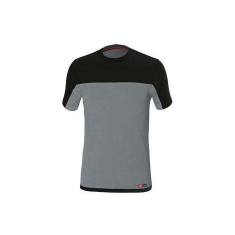 Camiseta de trabajo Stretch Gris/Negro Talla 3xl
