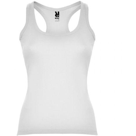 Camiseta entallada, con sisas y escote ribeteado CAROLINA CA6517