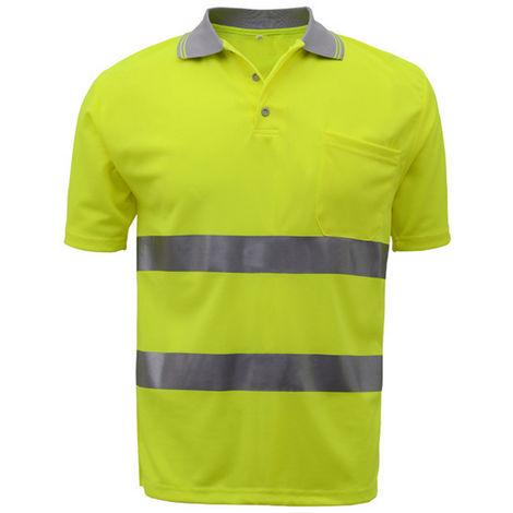 Camiseta reflectante, ropa fluorescente, amarillo fluorescente, XL