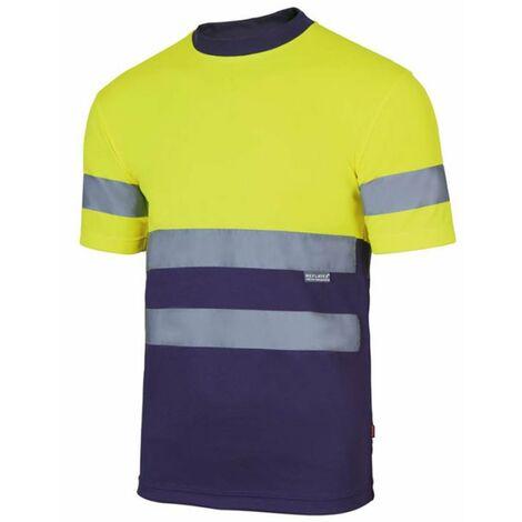 Camiseta Tecnica Bicolor Alta Visibilidad Amarillo / Marino XXL Velilla