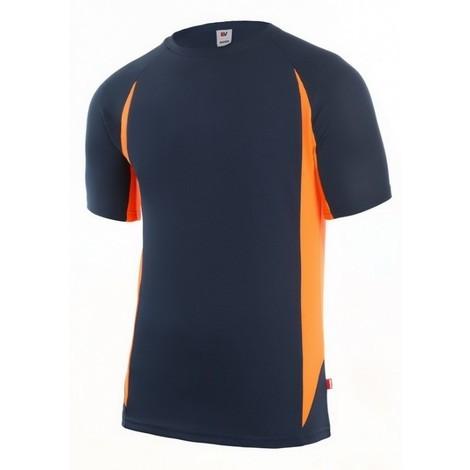 Camiseta trabajo l polie m/corta az/na tecnica velilla