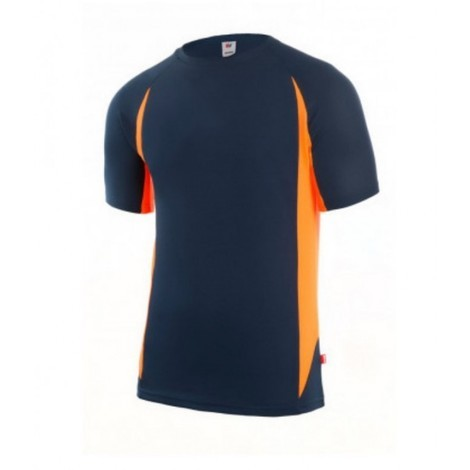 Camiseta trabajo l tecnica polie m/corta gr/nar velilla