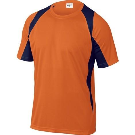 Camiseta Transpirable Manga Corta M - BALI - Naranja/Marino