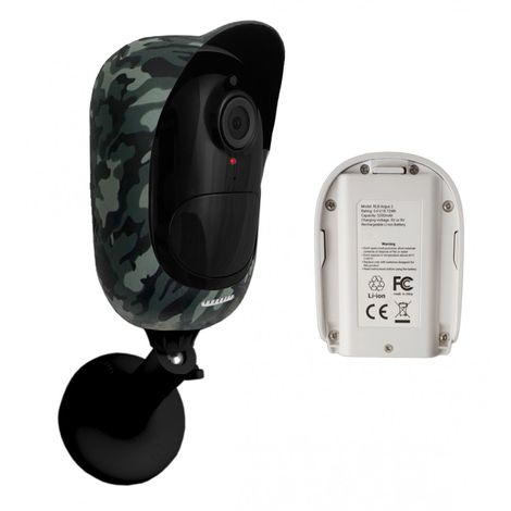 Camouflage Battery External Wi-Fi 1080P CCTV Camera & Spare Battery (Argus 2)