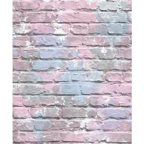 Camouflage Brick Lilac Freestyle L33506 Muriva Wallpaper